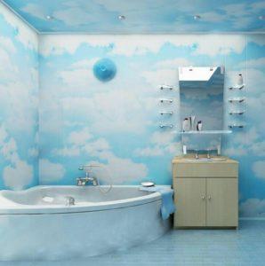 Оформление ванной пластиком