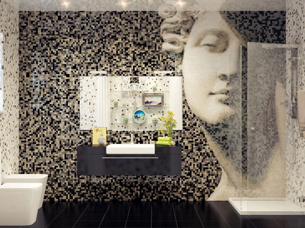 Панно из мозаики на стене