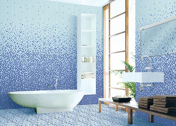 Практичная ванная с мозаикой