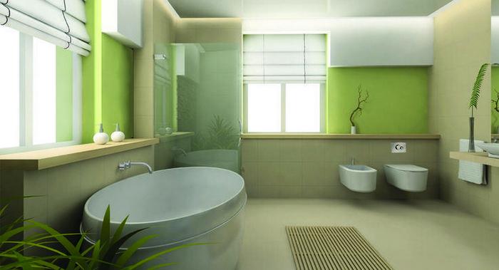 Просторная совмещенная ванная