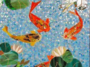 Рыбы из мозаичной плитки