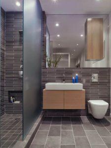 Совмещенная ванная с зеркалом