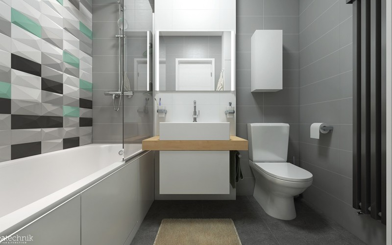 Bathroom design for 6 square meters