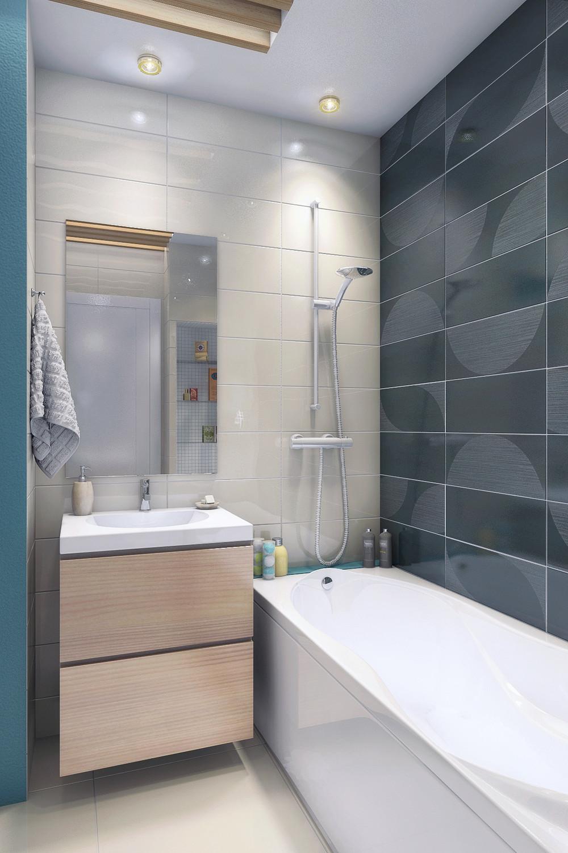 Дизайн маленькой ванной без унитаза: варианты отделки