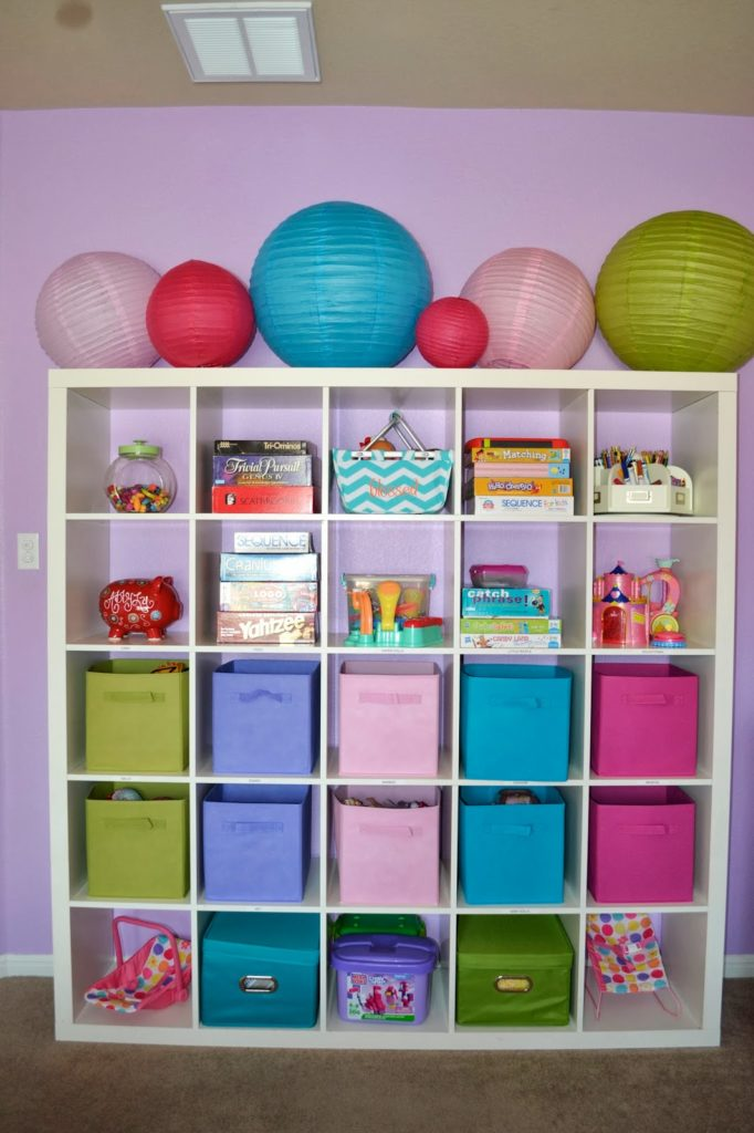 furniture-alluring-ikea-kids-playroom-furniture-with-large-white-wooden-storage-racks-and-green-blue-pink-purple-colors-toys-storage-boxes-also-colorful-lanterns-with-playroom-storage-ideas-also-kids