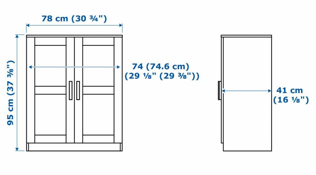 шкаф двухдверный Бримнэс-5